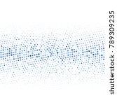 modern textured halftone of... | Shutterstock .eps vector #789309235