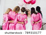back view of group of... | Shutterstock . vector #789310177
