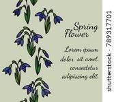 seamless vertical floral... | Shutterstock .eps vector #789317701