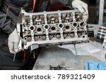 the job of a mechanic....   Shutterstock . vector #789321409