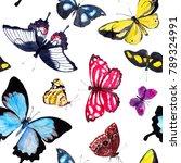 Butterflies. Seamless...