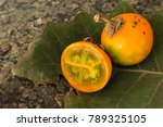 lulo fruits placed on a lulo... | Shutterstock . vector #789325105