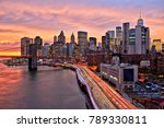 view of lower manhattan with... | Shutterstock . vector #789330811
