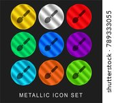 ladle 9 color metallic chromium ... | Shutterstock .eps vector #789333055