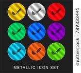 ladle 9 color metallic chromium ... | Shutterstock .eps vector #789333445