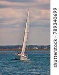 sailboat sailing in arcachon... | Shutterstock . vector #789340699