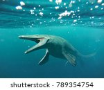 Mosasaurus, 17m aquatic lizard, between 70 and 66 million years ago (3d illustration)