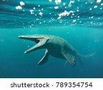 mosasaurus  17m aquatic lizard  ... | Shutterstock . vector #789354754