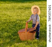 portrait of toddler child... | Shutterstock . vector #789357601