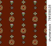 original mosaic drawing tribal... | Shutterstock .eps vector #789358135