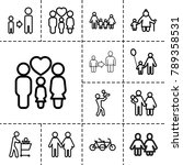 father icons. set of 13... | Shutterstock .eps vector #789358531