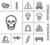 Danger Icons. Set Of 13...
