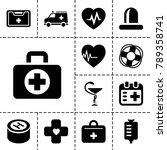 emergency icons. set of 13... | Shutterstock .eps vector #789358741