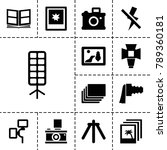 photograph icons. set of 13...   Shutterstock .eps vector #789360181