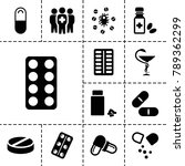 cure icons. set of 13 editable... | Shutterstock .eps vector #789362299