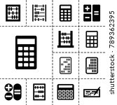 accounting icons. set of 13... | Shutterstock .eps vector #789362395