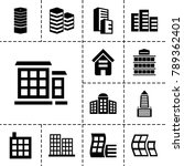 headquarters icons. set of 13... | Shutterstock .eps vector #789362401