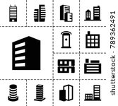 apartment icons. set of 13... | Shutterstock .eps vector #789362491