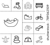 relaxation icons. set of 13... | Shutterstock .eps vector #789362509