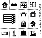 architecture icons. set of 13... | Shutterstock .eps vector #789364951