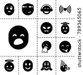 emotion icons. set of 13... | Shutterstock .eps vector #789365065
