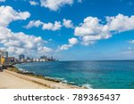 view of the sea from el malecon ... | Shutterstock . vector #789365437