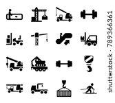 lift icons. set of 16 editable... | Shutterstock .eps vector #789366361