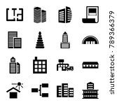 structure icons. set of 16... | Shutterstock .eps vector #789366379