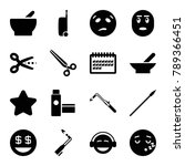 clipart icons. set of 16... | Shutterstock .eps vector #789366451
