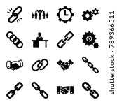 cooperation icons. set of 16... | Shutterstock .eps vector #789366511
