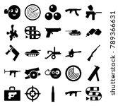 gun icons. set of 25 editable... | Shutterstock .eps vector #789366631