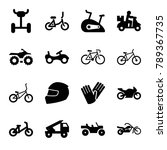 bike icons. set of 16 editable... | Shutterstock .eps vector #789367735