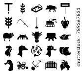 farm icons. set of 25 editable... | Shutterstock .eps vector #789367831