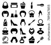 glamour icons. set of 25... | Shutterstock .eps vector #789367855