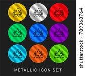 waterpolo 9 color metallic... | Shutterstock .eps vector #789368764