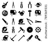 carpentry icons. set of 25...