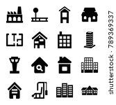 building icons. set of 16... | Shutterstock .eps vector #789369337