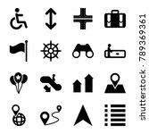 navigation icons. set of 16... | Shutterstock .eps vector #789369361