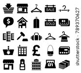 retail icons. set of 25... | Shutterstock .eps vector #789370627