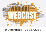 webcast or web conference word... | Shutterstock .eps vector #789372319