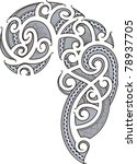 maori style tattoo designed for ... | Shutterstock .eps vector #78937705