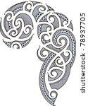 maori style tattoo designed for ... | Shutterstock .eps vector #78937705