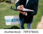 male real estate broker... | Shutterstock . vector #789378601