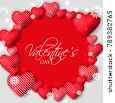 happy valentines day card... | Shutterstock .eps vector #789382765