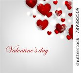 valentines day card with red...   Shutterstock .eps vector #789383509