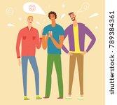 cartoon boys looking video and...   Shutterstock .eps vector #789384361