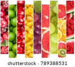 the fruits collage | Shutterstock . vector #789388531