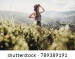 wanderlust and travel concept.... | Shutterstock . vector #789389191