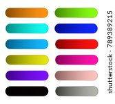 colorful set of web buttons... | Shutterstock .eps vector #789389215