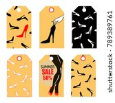 vector tags and lables with... | Shutterstock .eps vector #789389761